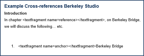 adding the reference and anchor in a Word document