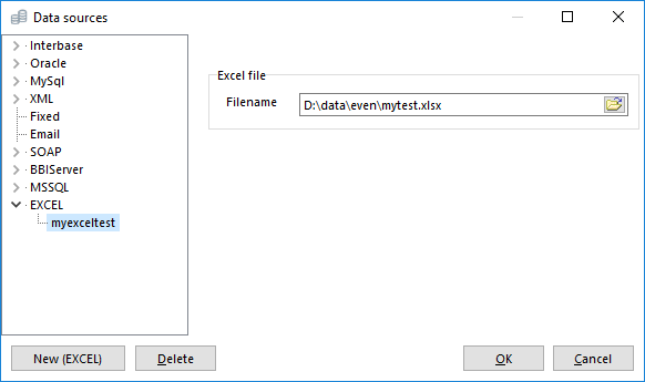 Connecting to the Excel file