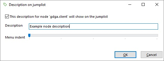 Editing the jumplist entry