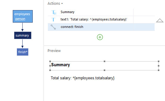 Presenting the total salary summary